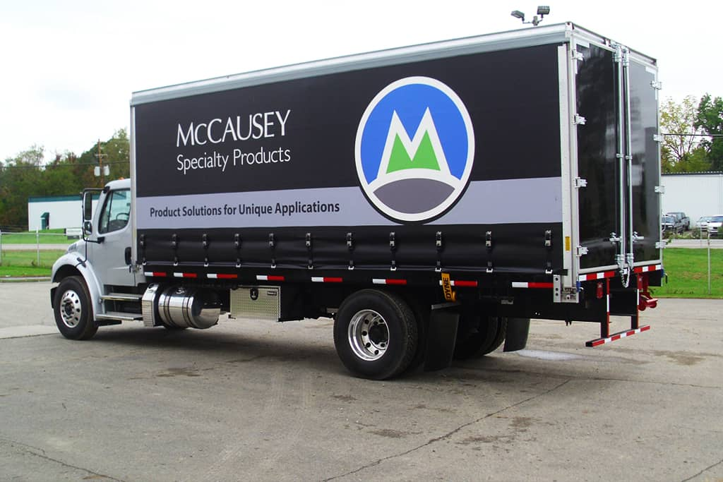 McCausey's trucks regularly deliver a diverse product mix to a variety of industries throughout the state.