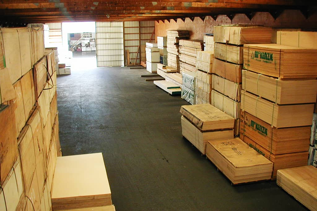 McCausey's warehouse and yard boasts a diverse inventory of engineered wood, specialty plywood, and composite tooling boards